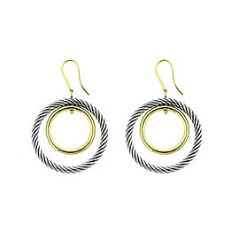 David Yurman Cable Classics 18K Yellow Gold & Sterling Silver Earrings