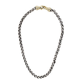 David Yurman Sterling Silver Wheat Chain with 14K Clasp Necklace