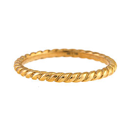 David Yurman Cable Classics 18k Yellow Gold Band Size 7