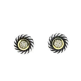 David Yurman Cable and Diamond Cookie Earrings