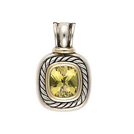 David Yurman Sterling Silver and 14K Yellow Gold Citrine Albion Pendant