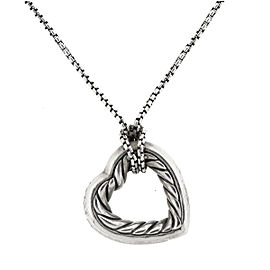 David Yurman Sterling Silver Heart Necklace