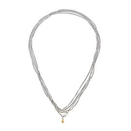 David Yurman Small Box Chain 14k Yellow Gold and Sterling Silver