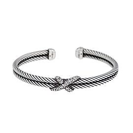 David Yurman 0.26ct Diamond X Cable Bracelet