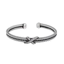 David Yurman 0.26ct Diamond X Cable Bracelet