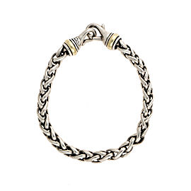 David Yurman 925 Sterling Silver 14K Yellow Gold Wheat Chain Bracelet