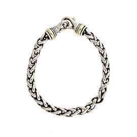 David Yurman 925 Sterling Silver 14K Yellow Gold Wheat Chain Bracelet