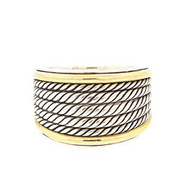 David Yurman Two Tone Cable 5 Row Ring