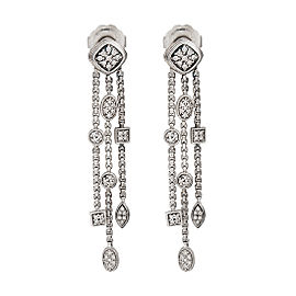 David Yurman Sterling Silver Confetti 0.80ct. Diamond Drop Earrings