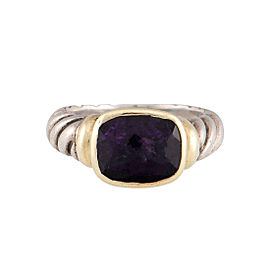 David Yurman Noblesse 14K Yellow Gold Amethyst Ring Size 5.75