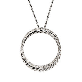 David Yurman Crossover 0.39ctw. Pave Diamond Pendant Necklace