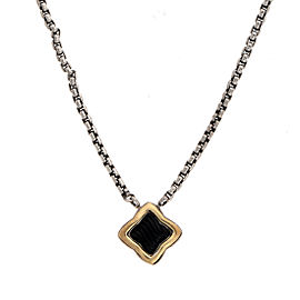 David Yurman 925 Sterling Silver Onyx Pendant Necklace