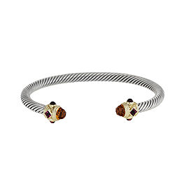 David Yurman Sterling Silver & 14K Yellow Gold Citrine, Tourmaline & Garnet Renaissance Bracelet