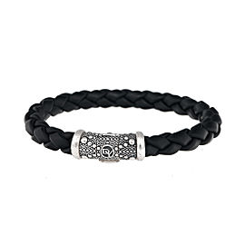 David Yurman Sterling Silver Braided Rubber Bracelet