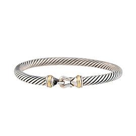 David Yurman 925 Sterling Silver & 14K Yellow Gold Cable Buckle Bracelet