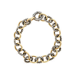 David Yurman 18K Yellow Gold Medium Oval Link Bracelet