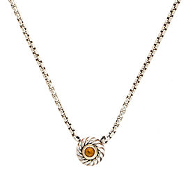 David Yurman 925 Sterling Silver 14K Yellow Gold Citrine Necklace
