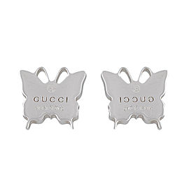 Gucci Sterling Silver Butterfly Earrings