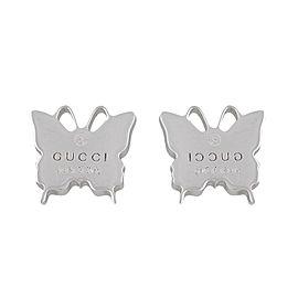 Gucci Sterling Silver Butterfly Earrings