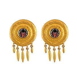 Gurhan 24K Yellow Gold Micro Mosaic Earrings