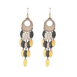 Gurhan 925 Sterling Silver Metallic Willow Chandelier Earrings