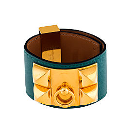 Hermes Green Collier de Chien Bracelet