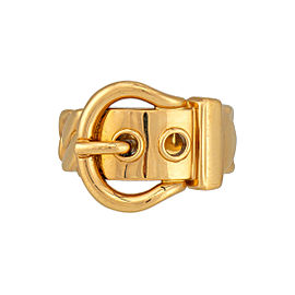 Hermes Belt and Buckle Ring 18K Yellow Gold Size 5.75