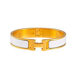 Hermes Clic Clac Gold Tone Bracelet