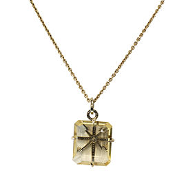 H. Stern Highlight Stars 18K Yellow Gold Citrine Quartz Pendant Necklace