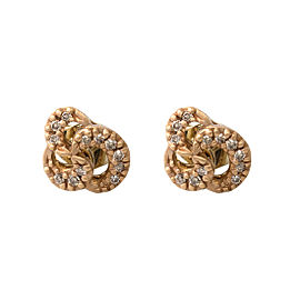 H. Stern 18k Rose Gold Diamond Knot Earrings