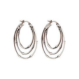 John Hardy 925 Sterling Silver Bamboo Earrings