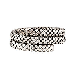 John Hardy 925 Sterling Silver Dot Double Wrap Bracelet