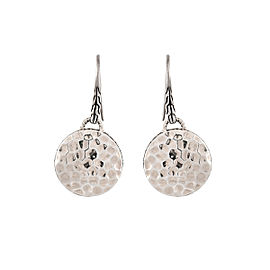 John Hardy 925 Sterling Silver Round Drop Earrings