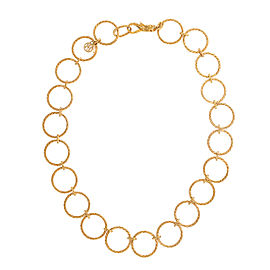 John Hardy 18K Yellow Gold Classic Chain Circle Link Necklace