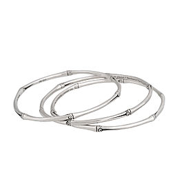 John Hardy Sterling Silver Bamboo Set of Three Bangles