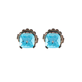 John Hardy Sterling Silver Prism Blue Topaz Stud Earrings
