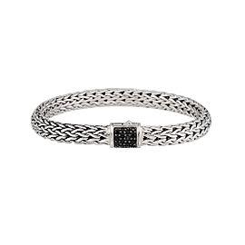 John Hardy Classic Chain 925 Sterling Silver Black Sapphire Bracelet
