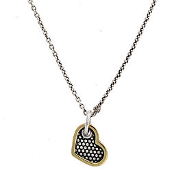 Lagos 925 Sterling Silver 18K Yellow Gold Pendant Necklace