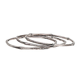 John Hardy 925 Sterling Silver Bamboo Bangles