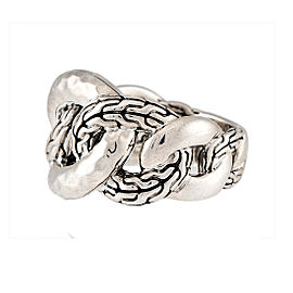 John Hardy Classic Chain 925 Sterling Silver Ring Size 7
