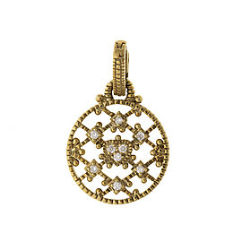 Judith Ripka 14k Yellow Gold 0.10 Ct Diamond Rope Pendant