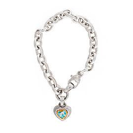 Judith Ripka Sterling Silver with Topaz Bracelet