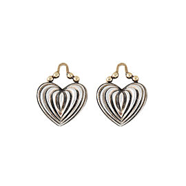 Lagos Sterling Silver Heart 18K Yellow Gold Earring Charms