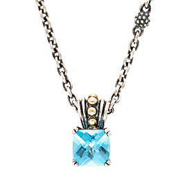 Lagos Prism Blue Topaz Pendant Necklace