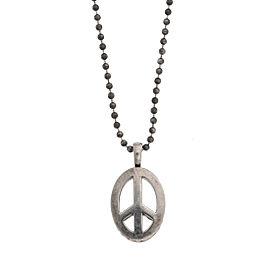 Lagos 925 Sterling Silver Peace Sign Pendant Necklace