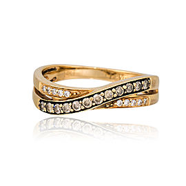 Le Vian 14K Yellow Gold Crossover Chocolate Diamond Ring Size 7