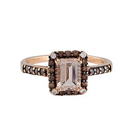 Le Vian 14K Rose Gold Morganite and 0.24ctw Diamond Ring Size 8