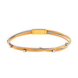 Marco Bicego 18K Tri-Color 0.15ct. Diamond Bracelet