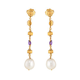 Marco Bicego 18K Yellow Gold with Paradise Multiple Gemstone Drop Earrings