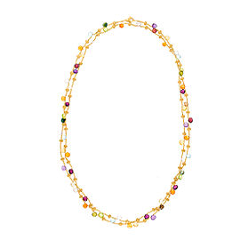 Marco Bicego 18K Yellow Gold with Paradise Mixed Gemstone Necklace
